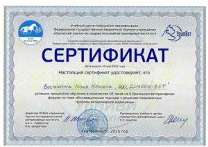 Уральский Научно-Исследовательский институт сертификат
