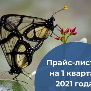 Прайс-листы на 1 квартал 2021 года