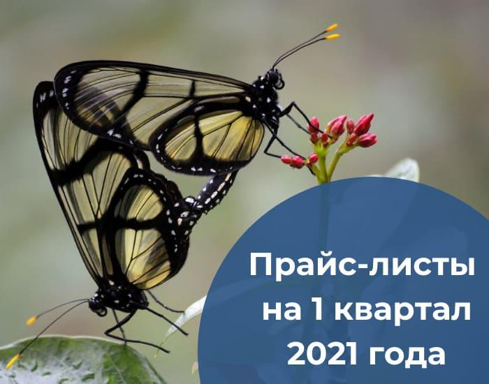 Прайс-листы на 1 квартал 2021